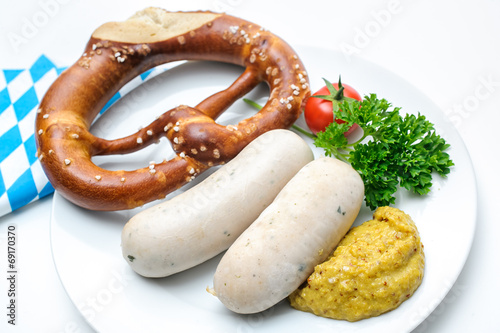 canvas print picture Bavarian meal