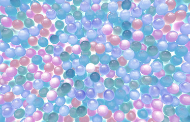 abstract colour plastic balls
