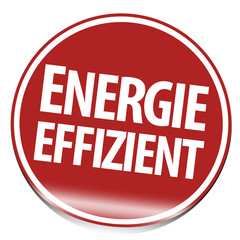 energieeffizient button rot