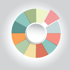 Business plan infographics pie chart ,Vector illustration