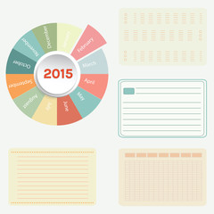 Success business plan infographics pie chart for 2015 calender ,