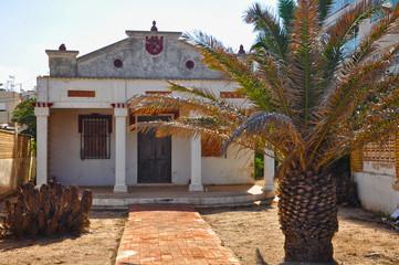 Playa de Gandia, chalé con porche, unifamiliar, arquitectura