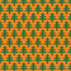 Seamless Christmas tree pattern background,vector design