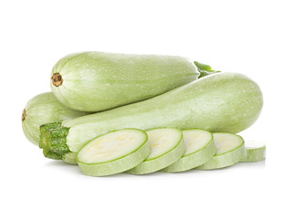 Fresh vegetable marrow isolated on white background.