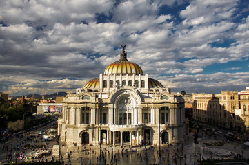 Museum of fine arts in Mexico city Palacio Del Bellas Artes DF