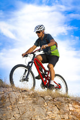 mountain bike, hill