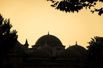 Domes at Sunset