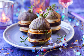 Fig and goat's cheese