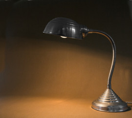 Small flexible metal lamp