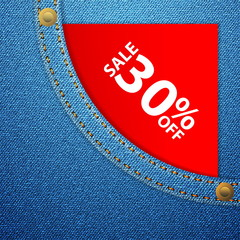denim pocket and sale thirty off