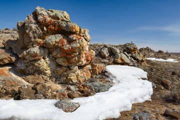Plush Rocks near Baikal lake