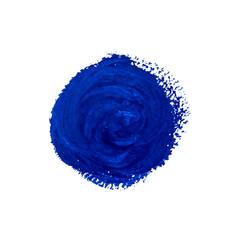 Blue watercolor vector circle
