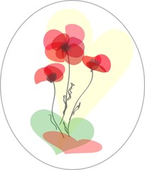 Abstract  flower background.Poppy.