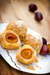 Dumplings with plums - sweet pleasure