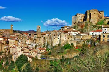Sorano -medeival town of Tuscany , Italy