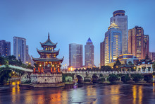"Постер, картина, фотообои ""Guiyang, China at Jiaxiu Pavilion"""