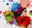 canvas print picture - kleckse farben leinwand