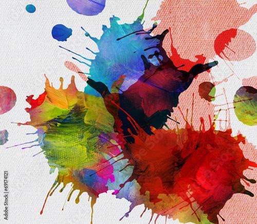 canvas print picture kleckse farben leinwand