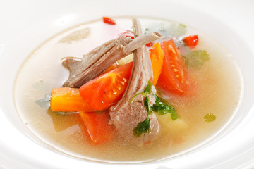 vegetable soup with ribs