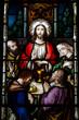 Leinwandbild Motiv The Last Supper (stained glass)