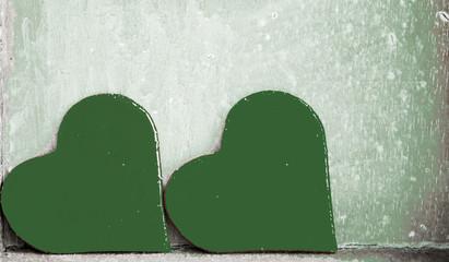 Herzen, grün