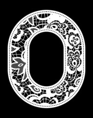 embroidery lace digit 0