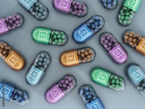 canvas print picture Mineral pills