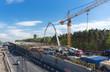Leinwanddruck Bild - Road construction