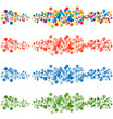 Set of abstract confetti-banners