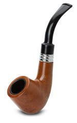 tobacco pipe isolated on the white background