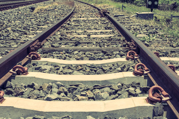 old railroad in thailand