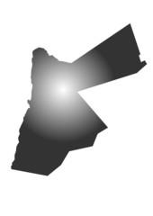 gri renkli ürdün haritası
