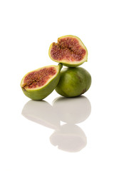Ficus carica, fig fruit on white isolated background