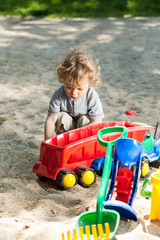 Child having fun on the playground
