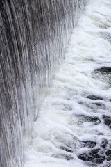 Dam with flowing water
