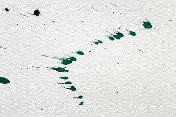 Paper background with splashes of ink