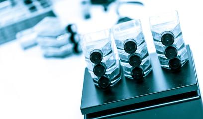 medical sample in bottle