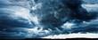 Leinwandbild Motiv panorama of sky with thunderclouds