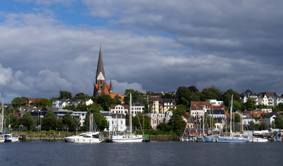 Wolken über Flensburg
