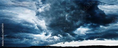 Foto op Canvas Onweer panorama of sky with thunderclouds