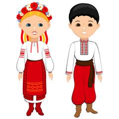Ukrainian national costumes