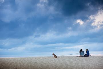 ballade entre copine sur la plage