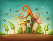 canvas print picture - Fantasy houses