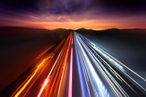 Fast Traffic Light Trails poster