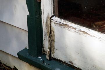 rotting door detail