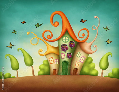 canvas print picture Fantasy houses