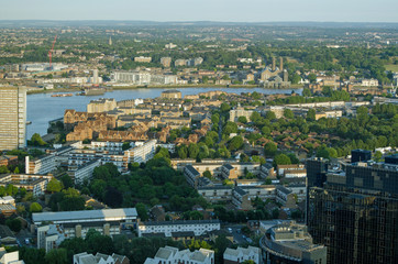Isle of Dogs, Thames and Greenwich, Aerial view