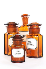 Pharmacy, glass bottle, Medicine