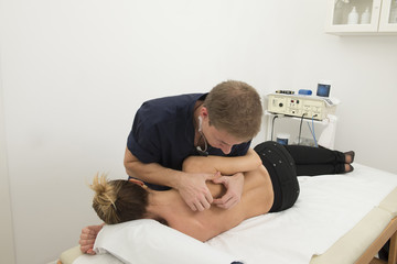 Massage and manipulation of a back
