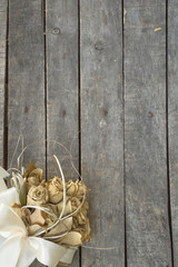 bouquet on wooden background